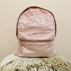 Pink Suede Backpack